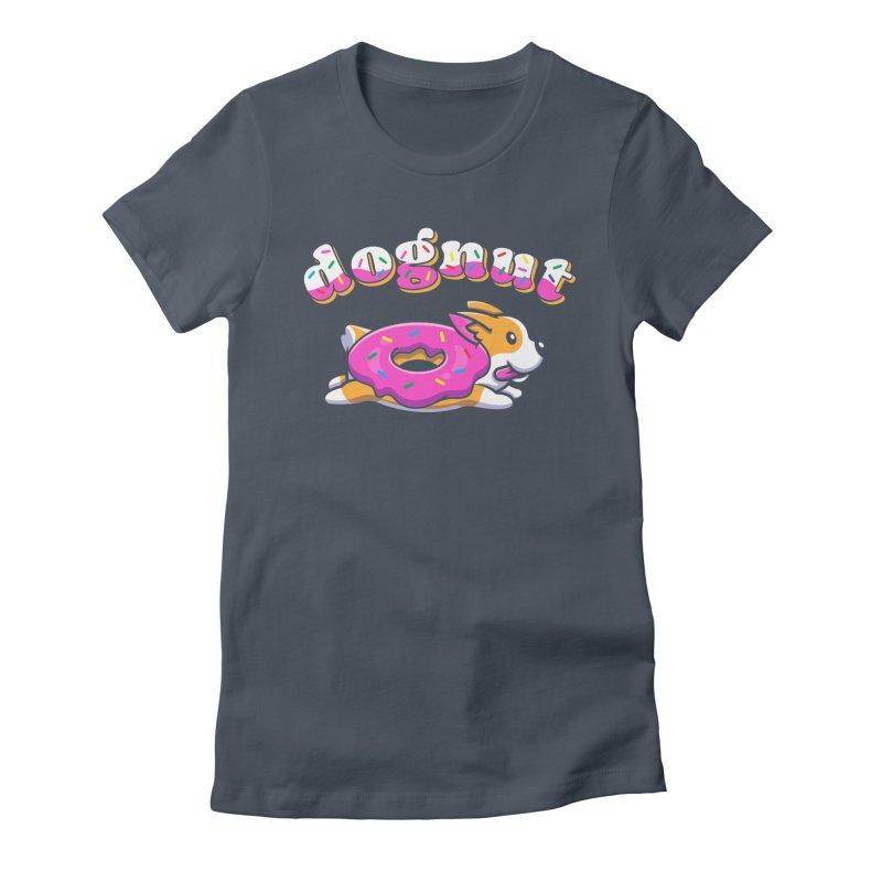 Funny Pun Dognut Women's T-Shirt by Opippi