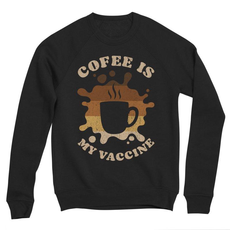 Coffee is my Vaccine Retro Women's Sweatshirt by Opippi