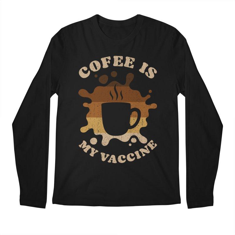 Coffee is my Vaccine Retro Men's Longsleeve T-Shirt by Opippi