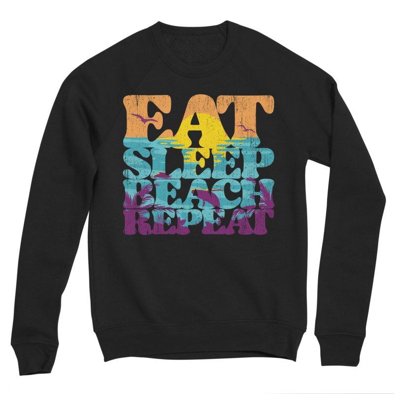 Eat Sleep Beach Repeat retro sunset paradise Women's Sweatshirt by Opippi