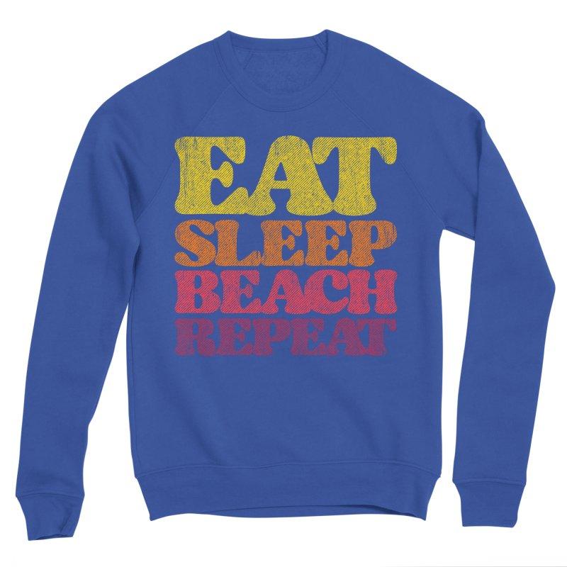 Eat Sleep Beach Repeat retro sunset Women's Sweatshirt by Opippi