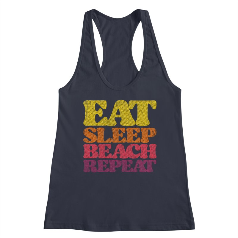 Eat Sleep Beach Repeat retro sunset Women's Tank by Opippi