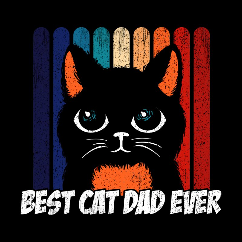 Funny Pun Best Cat dad ever kitten Fathers Day 2021 Home Shower Curtain by Opippi