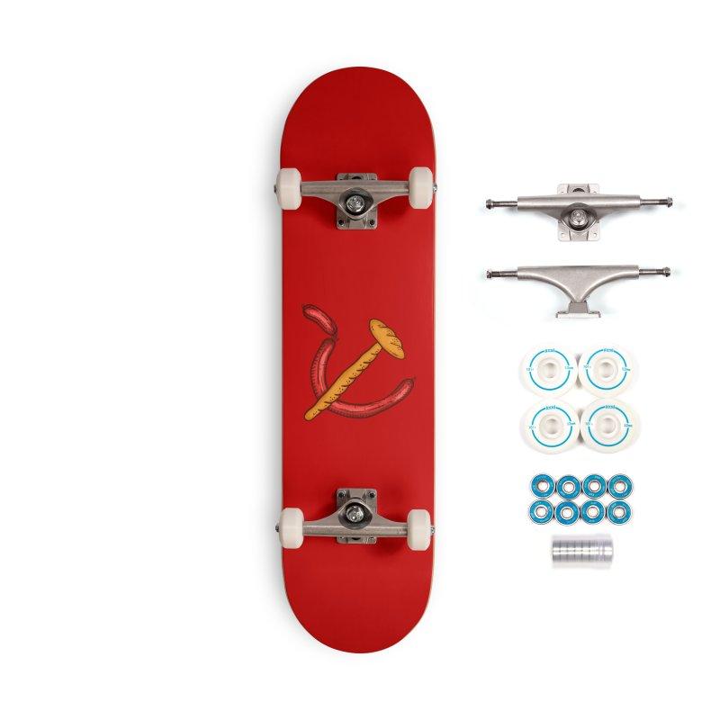 Bread with mortadella communism Accessories Skateboard by Opippi