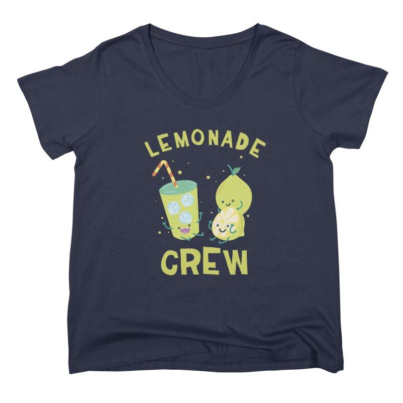 Cute kawaii Lemonade Crew fun summertime Lemon Lover Women's Scoop Neck by Opippi