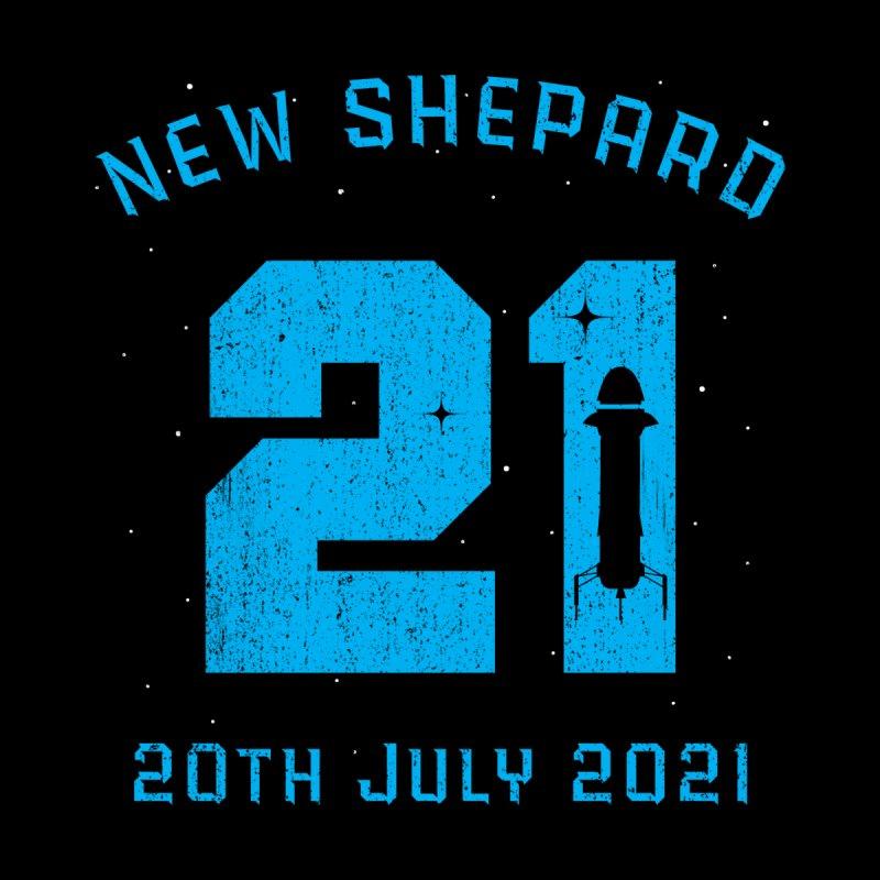 Blue Origin New Shepard Rocket 21 Women's Zip-Up Hoody by Opippi