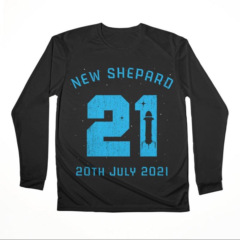 Blue Origin New Shepard Rocket 21 Women's Longsleeve T-Shirt by Opippi