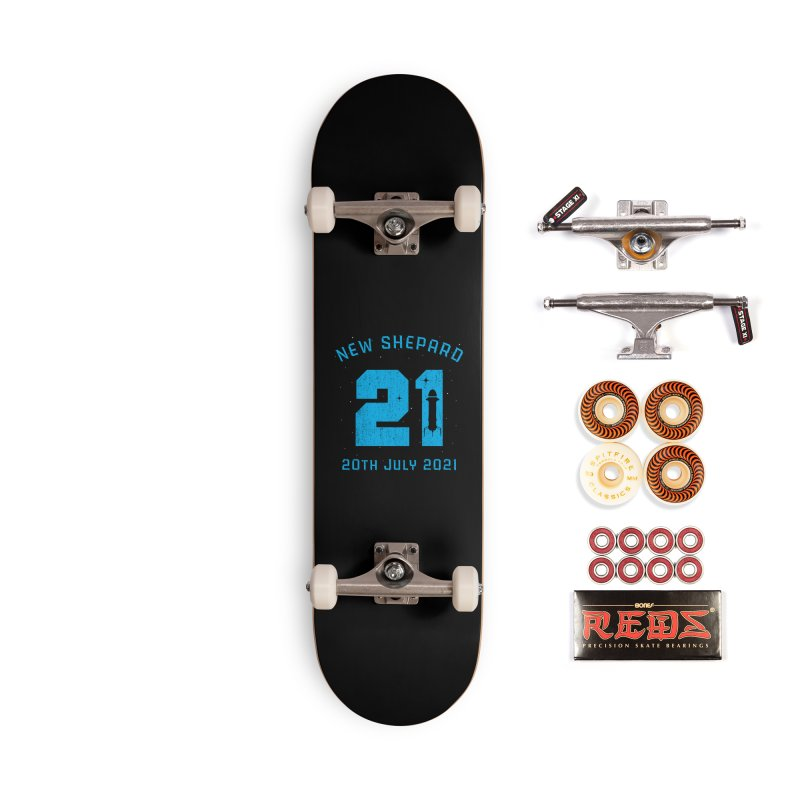 Blue Origin New Shepard Rocket 21 Accessories Skateboard by Opippi