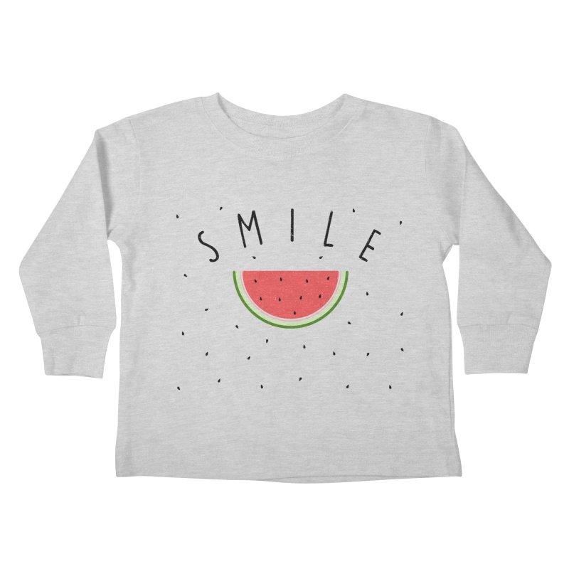 Water Melon Kids Toddler Longsleeve T-Shirt by Opippi