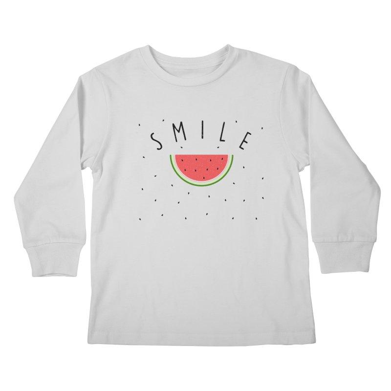 Water Melon Kids Longsleeve T-Shirt by Opippi