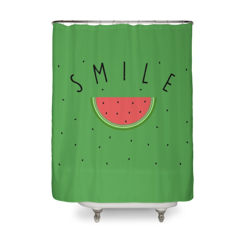 Water Melon Home Shower Curtain by Opippi