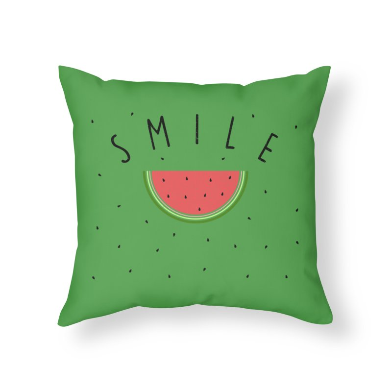 Water Melon Home Throw Pillow by Opippi