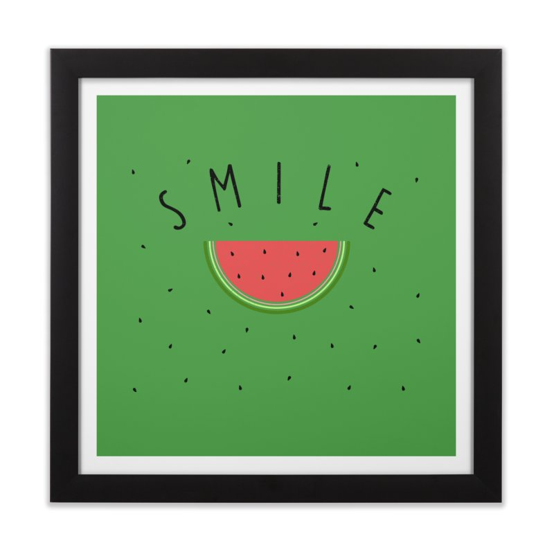 Water Melon Home Framed Fine Art Print by Opippi