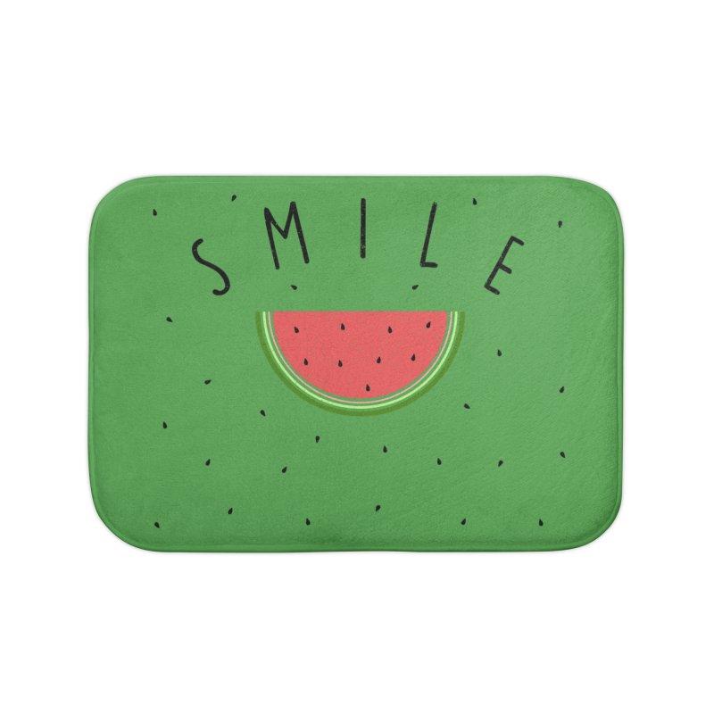 Water Melon Home Bath Mat by Opippi