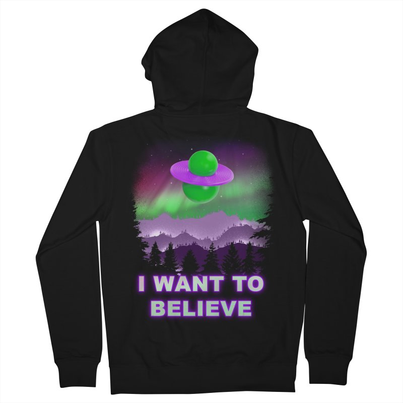 I Want to Believe Men's Zip-Up Hoody by Opippi