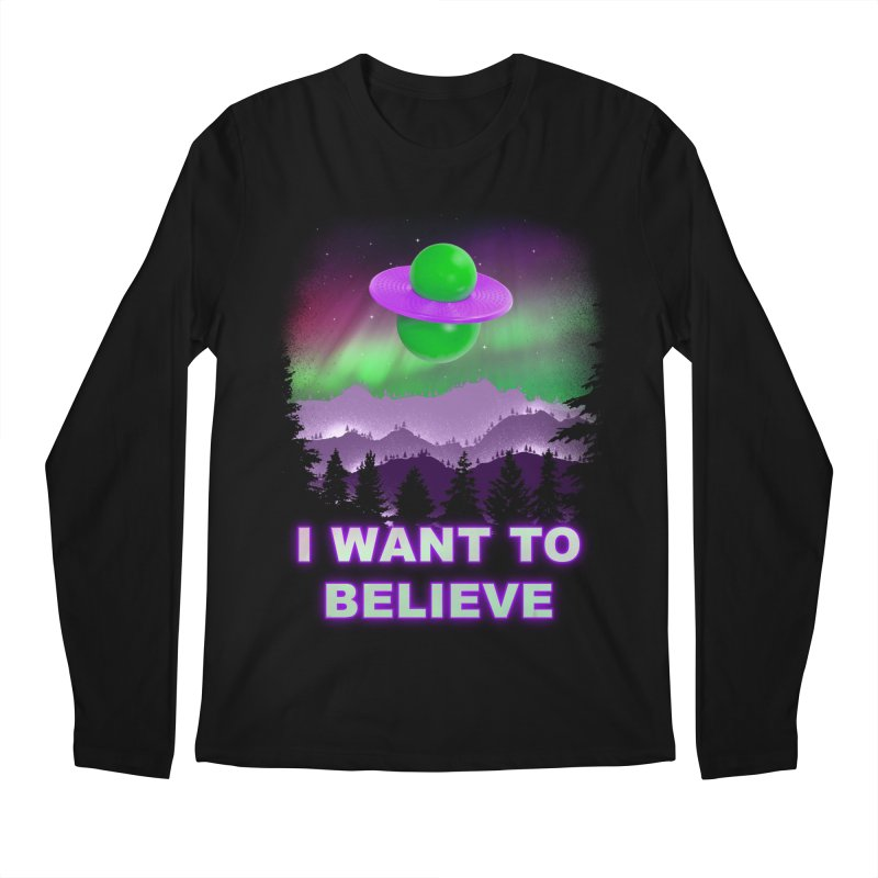 I Want to Believe Men's Longsleeve T-Shirt by Opippi