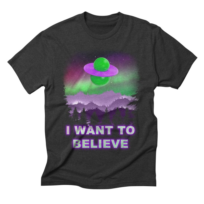I Want to Believe Men's Triblend T-shirt by Opippi