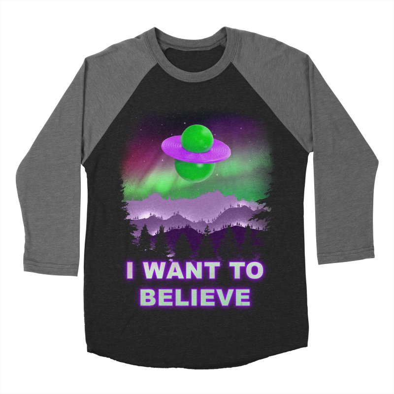I Want to Believe Women's Baseball Triblend T-Shirt by Opippi