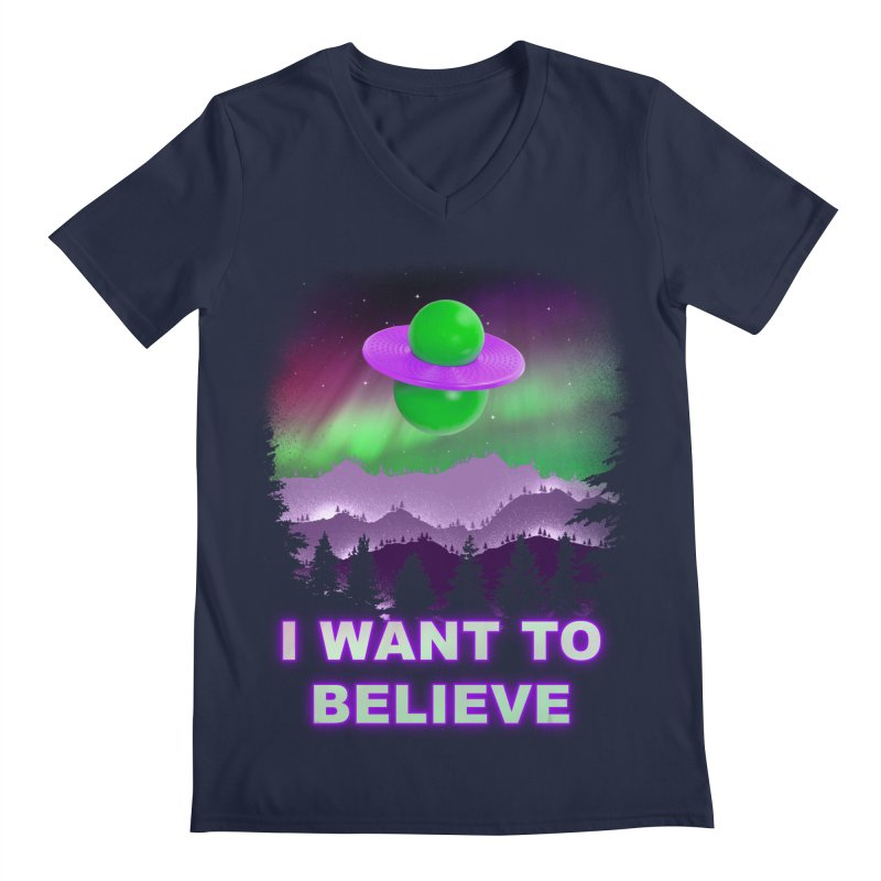 I Want to Believe Men's V-Neck by Opippi