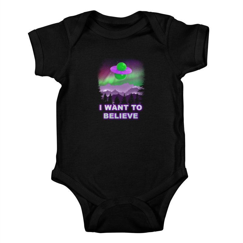 I Want to Believe Kids Baby Bodysuit by Opippi