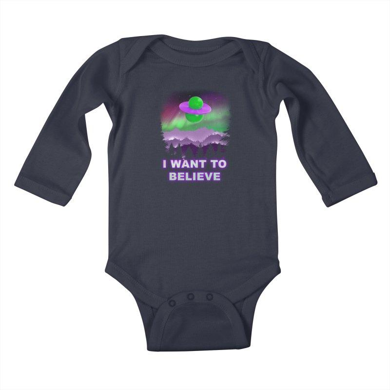 I Want to Believe Kids Baby Longsleeve Bodysuit by Opippi