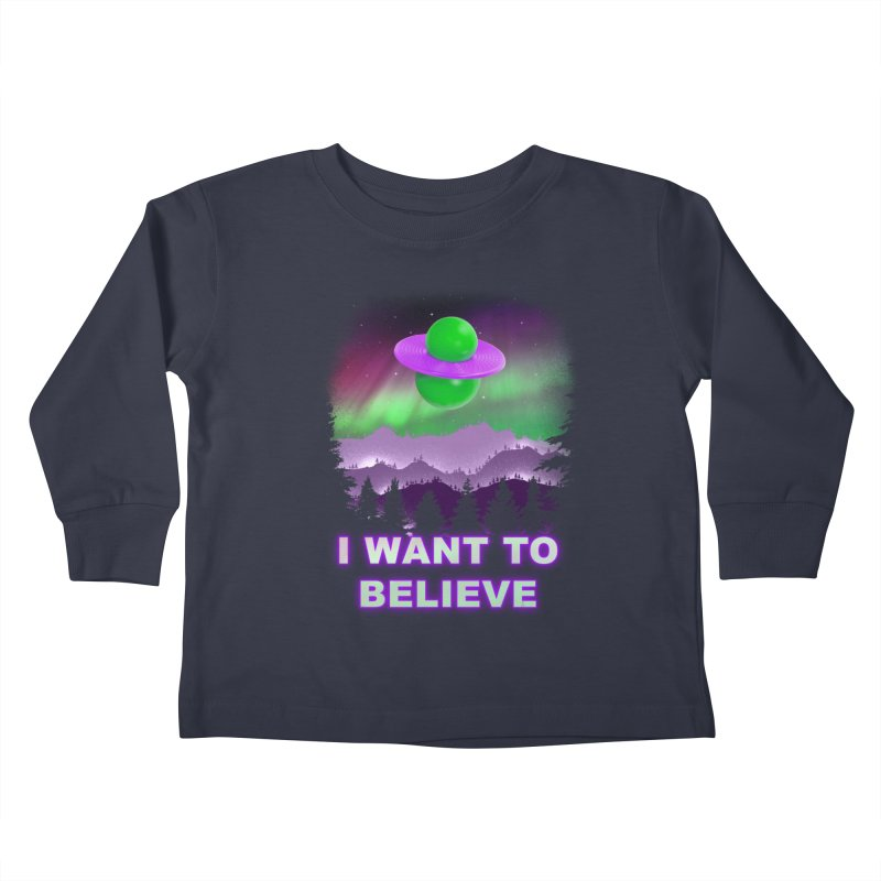 I Want to Believe Kids Toddler Longsleeve T-Shirt by Opippi