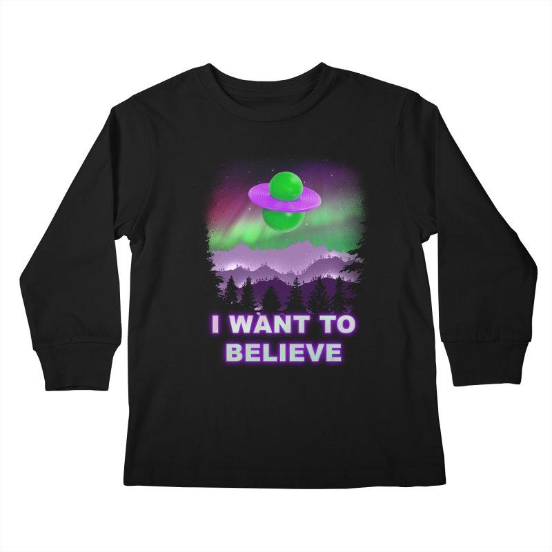 I Want to Believe Kids Longsleeve T-Shirt by Opippi
