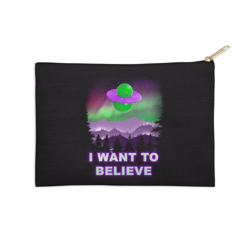 I Want to Believe Accessories Zip Pouch by Opippi