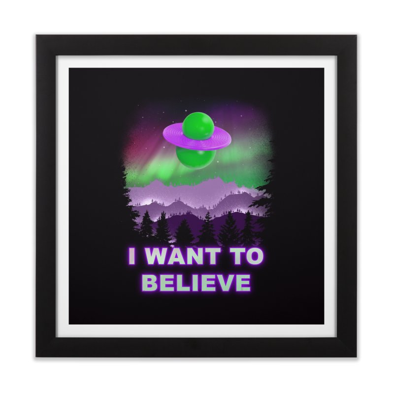 I Want to Believe Home Framed Fine Art Print by Opippi