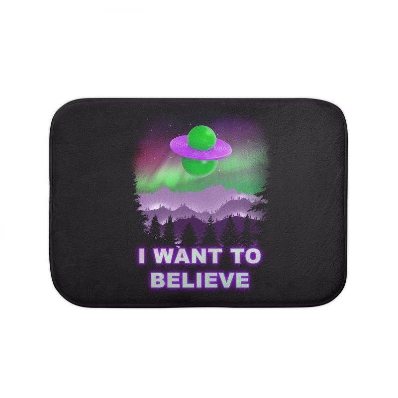 I Want to Believe Home Bath Mat by Opippi