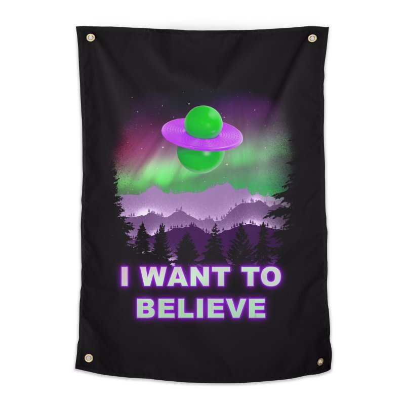 I Want to Believe Home Tapestry by Opippi