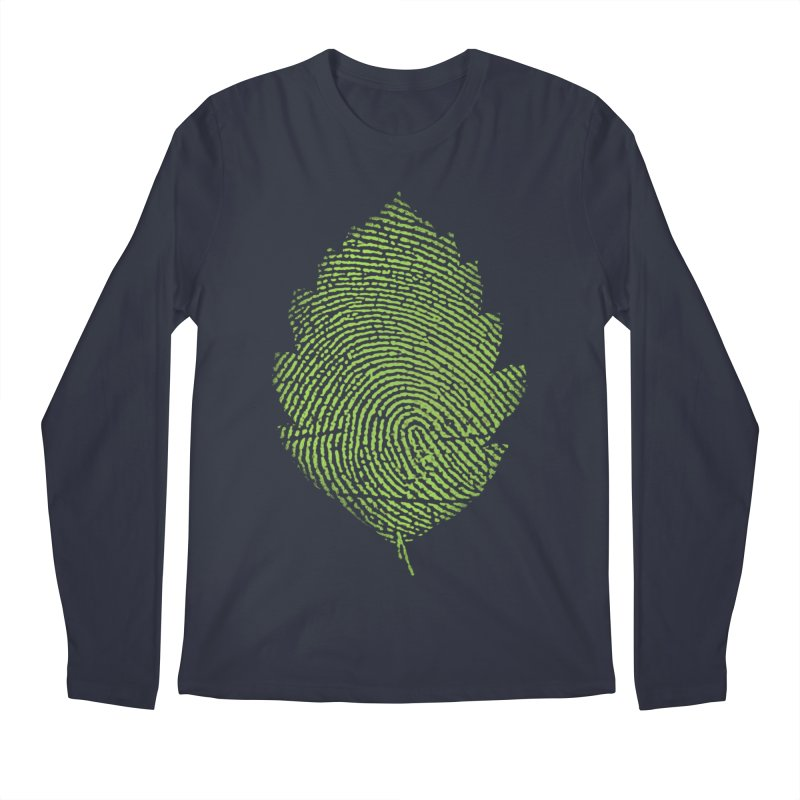 Leafprint Men's Longsleeve T-Shirt by Opippi