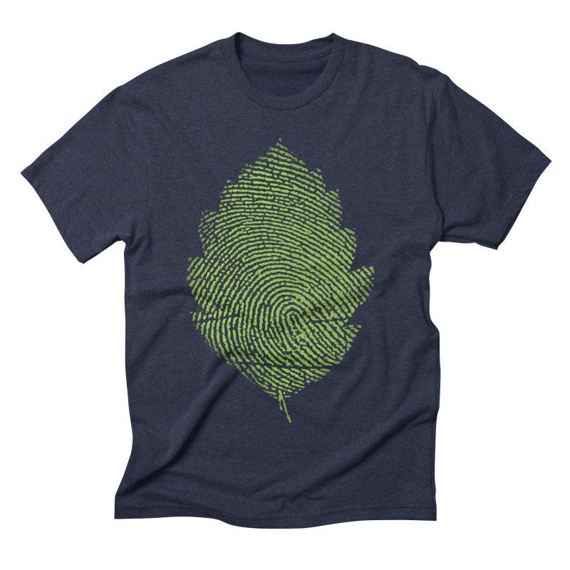 Leafprint Men's Triblend T-shirt by Opippi