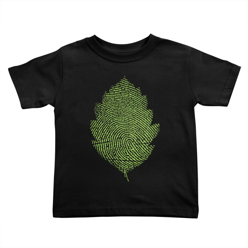 Leafprint Kids Toddler T-Shirt by Opippi