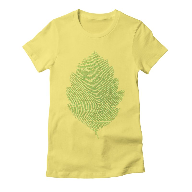 Leafprint Women's Fitted T-Shirt by Opippi