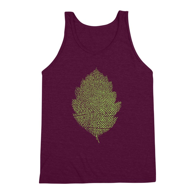 Leafprint Men's Triblend Tank by Opippi
