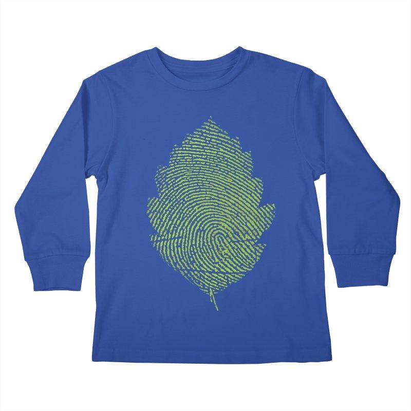 Leafprint Kids Longsleeve T-Shirt by Opippi