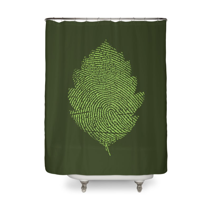 Leafprint Home Shower Curtain by Opippi