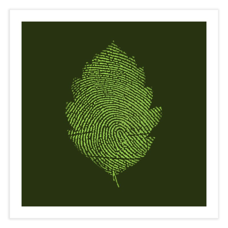 Leafprint Home Fine Art Print by Opippi