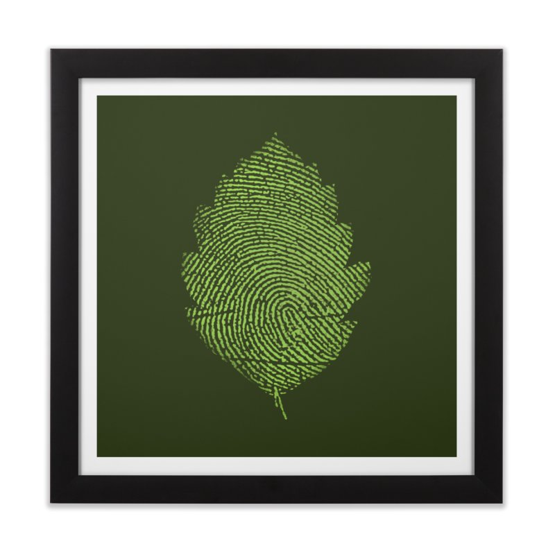 Leafprint Home Framed Fine Art Print by Opippi