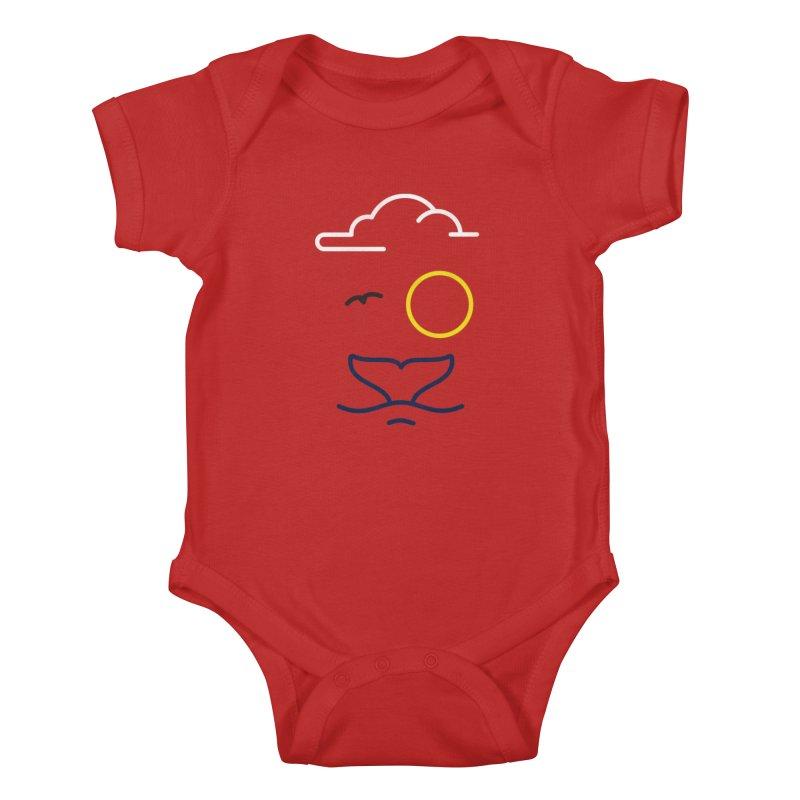 Philipp Von Whale Kids Baby Bodysuit by Opippi