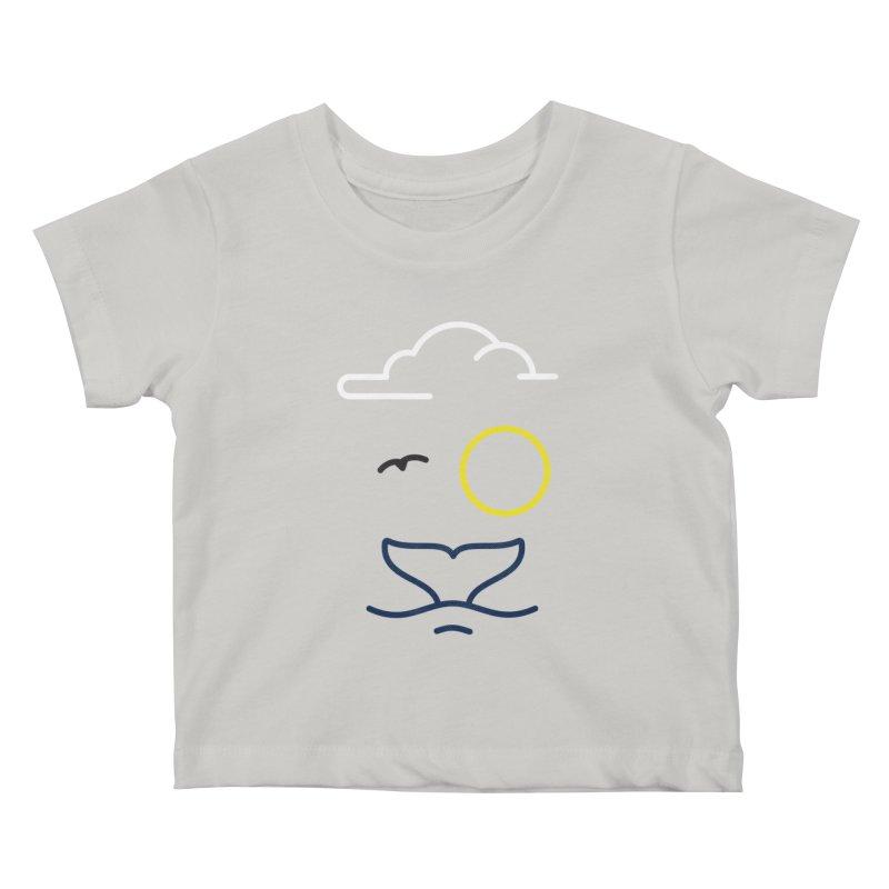 Philipp Von Whale Kids Baby T-Shirt by Opippi