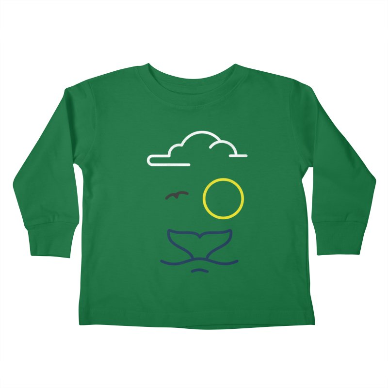 Philipp Von Whale Kids Toddler Longsleeve T-Shirt by Opippi