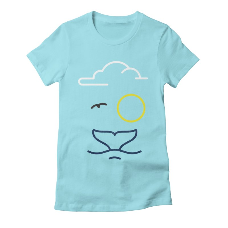 Philipp Von Whale Women's Fitted T-Shirt by Opippi