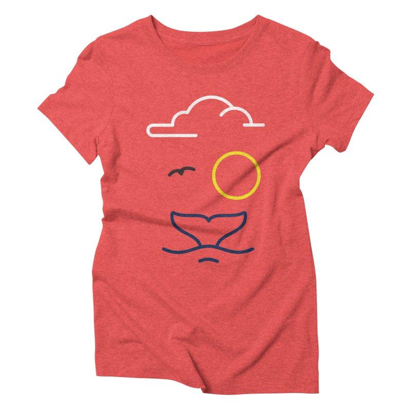Philipp Von Whale Women's Triblend T-shirt by Opippi