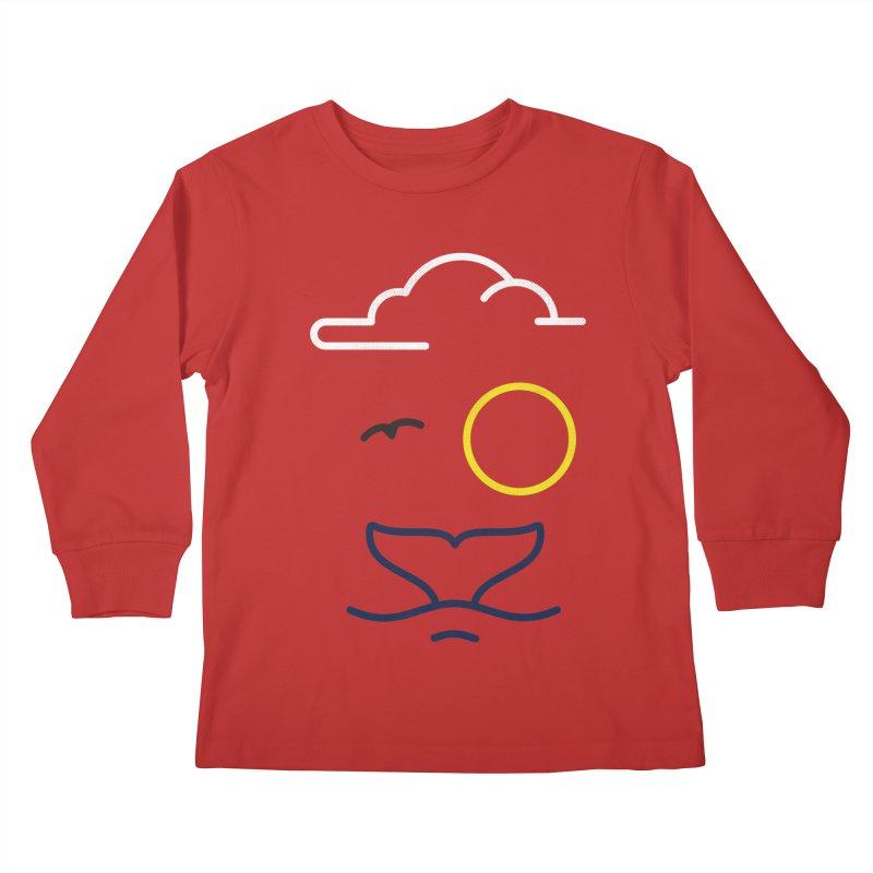 Philipp Von Whale Kids Longsleeve T-Shirt by Opippi