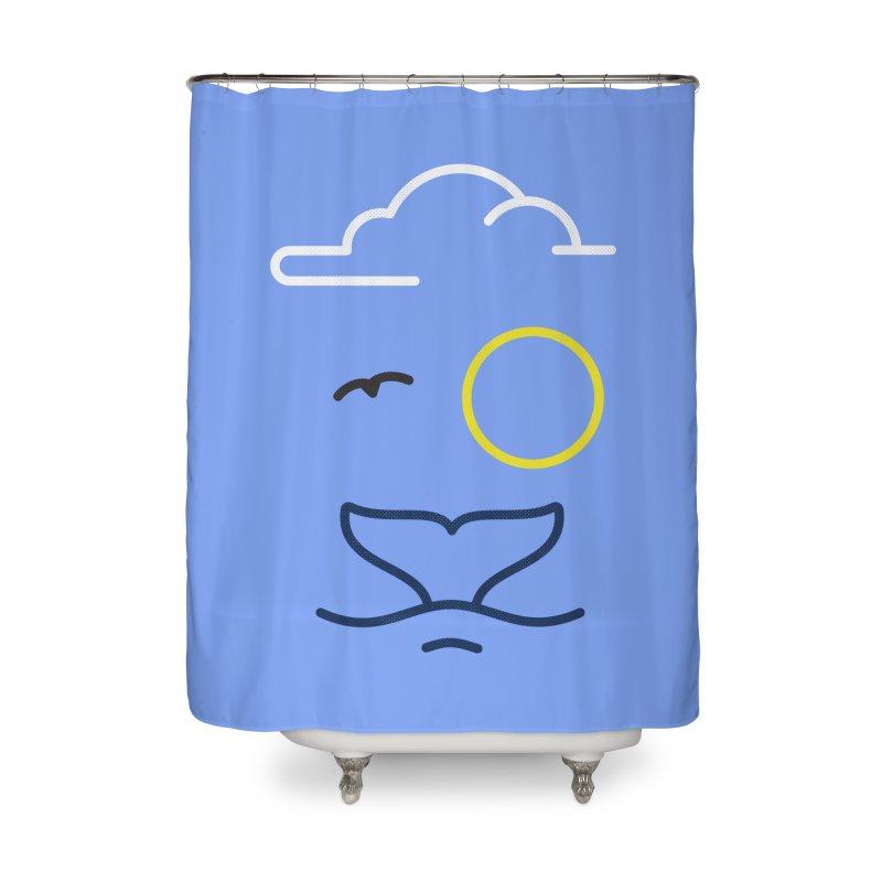 Philipp Von Whale Home Shower Curtain by Opippi