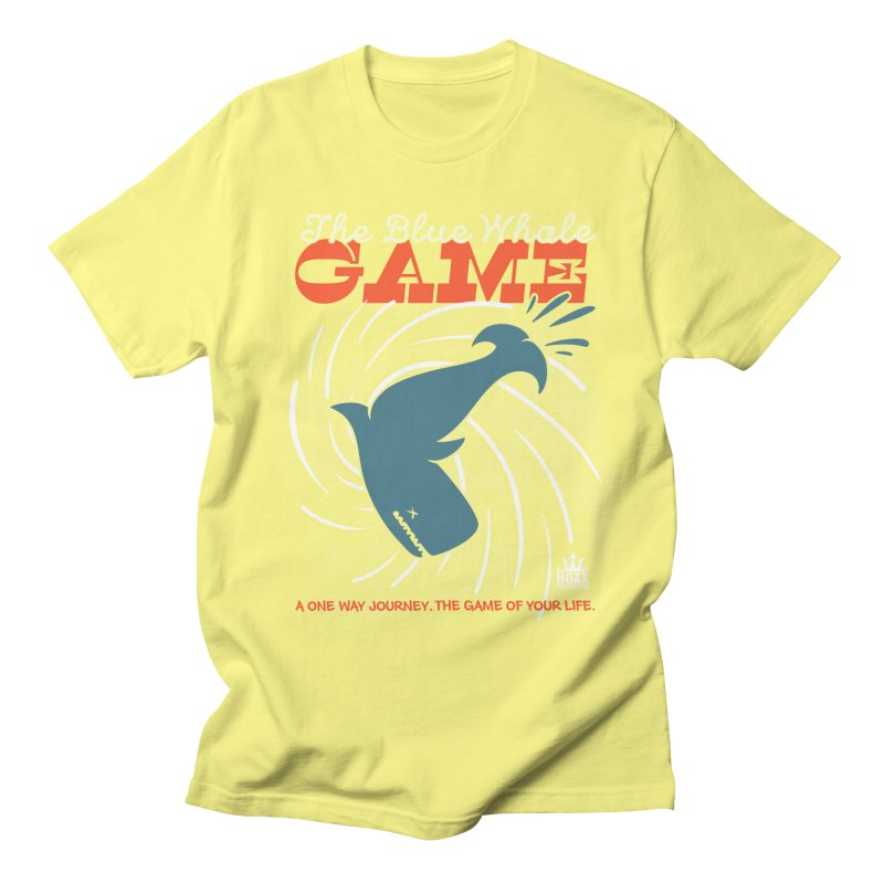 The Blue Whale Game Men's T-shirt by Opippi
