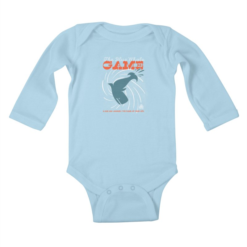 The Blue Whale Game Kids Baby Longsleeve Bodysuit by Opippi