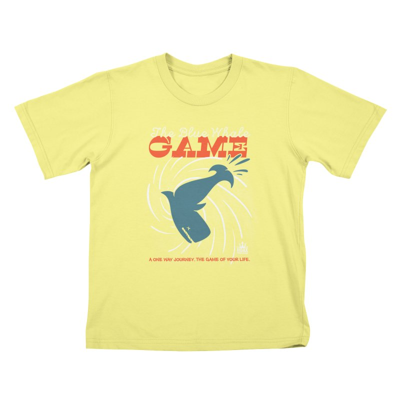 The Blue Whale Game Kids T-shirt by Opippi